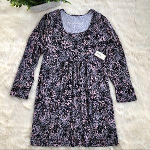 Soma soft jersey tunic w/pockets pink/black/gray